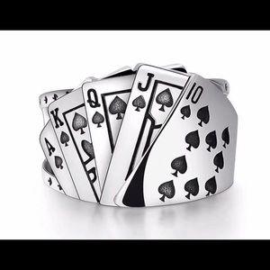 Poker ring biker Ring